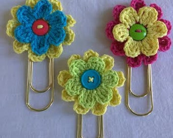 Flower Bookmark, Set of 3