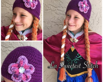 Anna inspired handmade crocheted hat