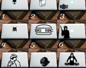 VARIOUS decals for MAC or PC sticker print perfect gift for any computer fan! Apple Star Wars Disney Funny Game of Thrones Lego etc