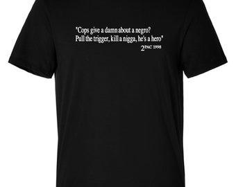 Men's 2Pac Tupac T/Shirt Urban Hip Hop Crew Neck Fashion Tees Shirt Custom Made Customise S-5XL Gym Top