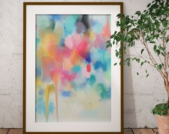 Hoping for Something, Framed Abstract Art Print - Limited Edition Abstract Giclee - Modern Art Print from Original Abstract Painting