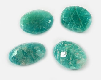 On sale - 1 pc - Natural - Amazonite - 13x18mm - Oval cut - Facet for prong set - Semi precious stone - Loose Gemstone - SHST0498