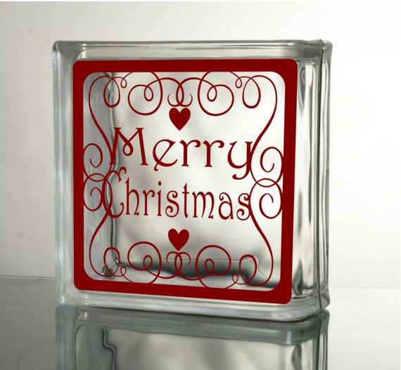 Merry christmas decal diy christmas crafts to make by for Quality craft vinyl plank reviews