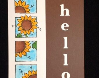 Hello Sunflower Greeting Card
