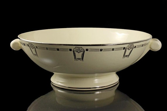 Two Handled Serving Bowl, Footed, Taylor Smith Taylor
