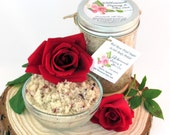 Natural Red Rose Petal Sugar Scrub Body Polish - 8 Oz
