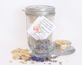 Oatmeal Lavender Bath Soak - Soothing Bath Soak - Herbal Lavender Bath - With Tea Bags - Relieve Stress and Tension - Calm Itchy Skin - 8 Oz $15.99