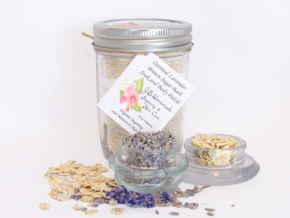 Oatmeal Lavender Bath Soak With Tea Bags 8 Oz