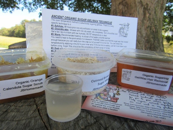 Natural Orange Calendula Scrub Sugaring Wax Deluxe Starter Kit