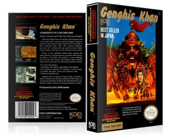 NES - Genghis Khan - Collector's Game Case