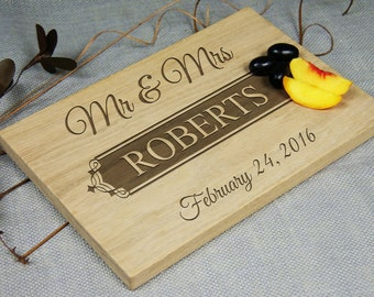Personalized Laser Engraved Cutting Board, Custom Gift, Wedding-Anniversary-Birthday-Retirement Gift, Housewarming Gift, Gift for Couple
