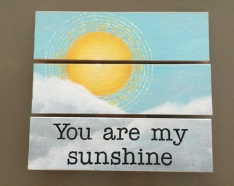 """Hand Painted """"sunshine"""" Wooden Sign"""
