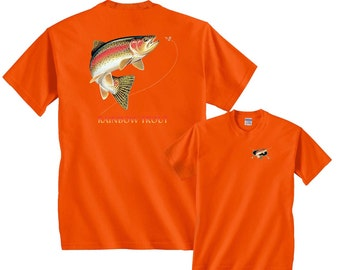 Rainbow Trout Going For Lure Profile Fishing T-Shirt