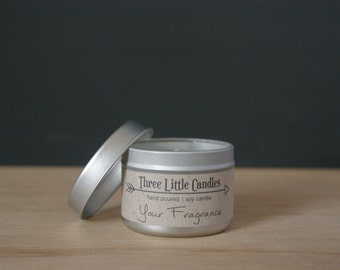 Unscented Soy Candle Tins - 2oz, 4oz or 8oz