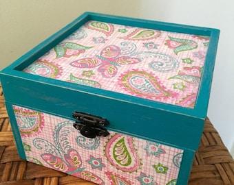 Decoupage Storage box.  Ready to ship~