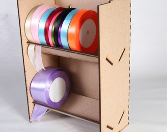 Ribbon Holder, Rack, Stand, Storage Unit, Can hold up to 10cm reels (G120)