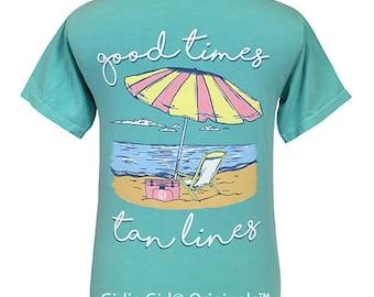 Girlie Girl Originals Good Times Chalky Mint Comfort Colors T-Shirt