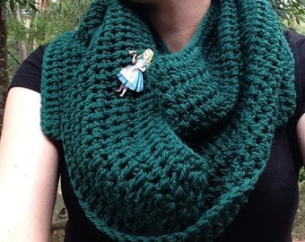 Extra Long Jungle Green Scarf