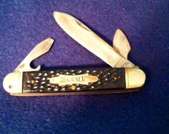 Vintage  Imperial Prov. R.I. Scout knife 1930-1936