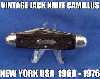 Vintage Camillus Jack Knife 1960 - 1976