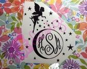 Fairy with Moon monogram ...