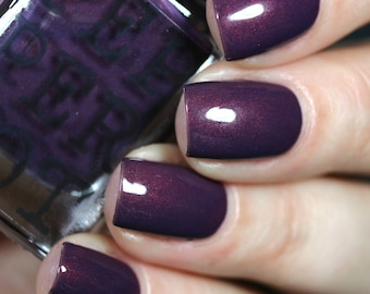 Dark Purple Red Shimmer Nail Polish Hot For Teacher Gift For Her Bath And Beauty