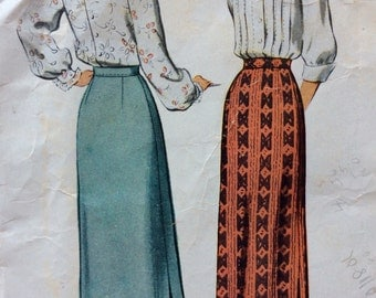 CLEARANCE!!  McCall 7245 misses straight skirt waist 26  vintage 1940's sewing pattern