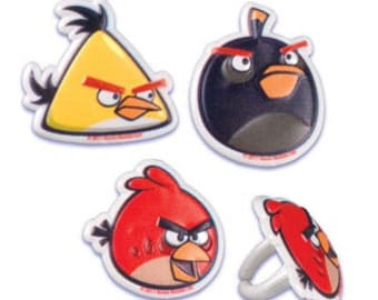 ANGRY BIRDS Cupcake Rings