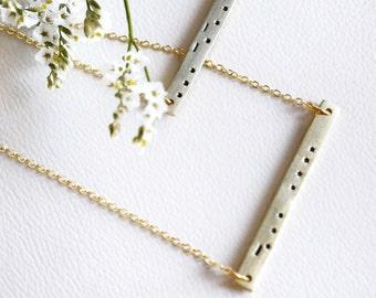 Morse Code Initial Necklace, Morse Code Bar Necklace, Initial Bar Necklace, Custom Bar Necklace, Initials Necklace, Morse Code Jewelry