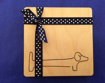 Wooden Coasters - Sausage Dog / Dachshund (Set of 4)