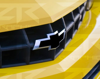 Chevy Camaro Front and Rear Bowtie Inlay Vinyl Decal (oversized)  SS RS LS 2010-2014 Any Color