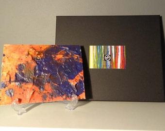 Original Abstract Art work, Abstraction Reaction