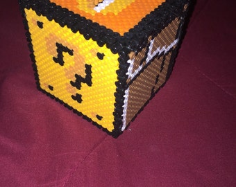 Perler Piggy Bank Box
