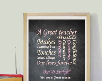 Teacher appreciation Teacher Gifts for Teacher Printables Personalized Teacher gifts