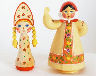 Two  Vintage Russian Dolls from the 1970s