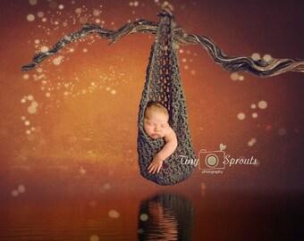 Chunky Newborn Stork Pouch, Newborn photography prop, newborn boy, newborn girl, Newborn Hanging Baby Cocoon Pod