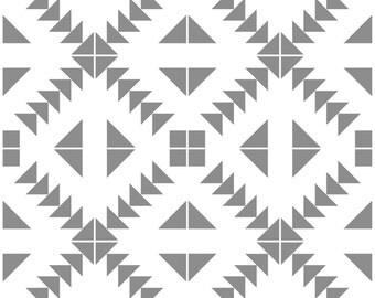 Tile Decals - Tiles for Kitchen/Bathroom Back splash - Floor decals - Zigzag Geometric Grey & White Pattern