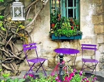 Paris Cafe Art, Paris Photography, Large Art, French Wall Decor, Kitchen Art, Wall Art, Parisian Decor, Travel Photo, 11 x 14, 16 x 20 Print