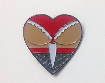 Butt Heart Lapel Pin