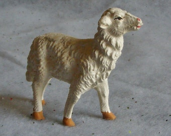 Vintage Christmas Nativity Figurine Lamb Sheep for Creche Made in Italy Animal Manger Decor Religious Holiday ~ 6839