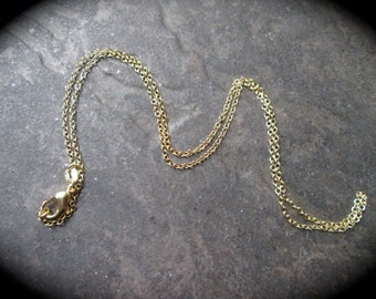 "18"" Gold Vermeil Rolo Chain with Lobster Claw Clasp Stamped 925 18K gold over sterling silver perfect for jewelry making or pendants"
