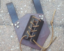 Leather Weapon Sword Frog Left Handed Holster Medieval Renaissance
