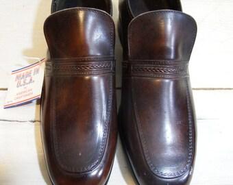 mens shoes - mens vintage shoes - oxford shoes - dress shoes men -brown shoes -  mens loafers