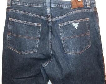 guess jeans -guess jeans men - denim jeans - blue jeans - vintage jeans - 1980's jeans