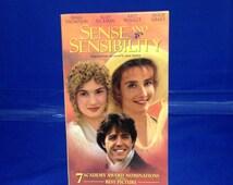 VINTAGE Sense and Sensibility Video VHS 1995 Jane Austen Movie Emma Thompson Kate Winslet Alan Rickman Hugh Grant