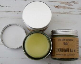 Elderflower Balm, Skin Softener, Soothing Salve, Gift Idea, Natural Skincare