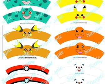 Pokemon GO Pikachu inspired Cupcake Wrapper by FancyAndFunFamily