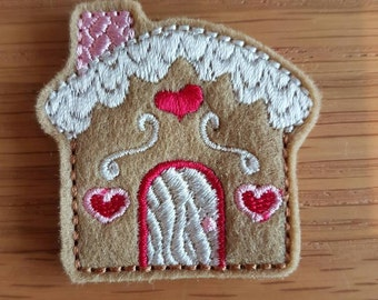 Gingerbread House Christmas Paper Clip
