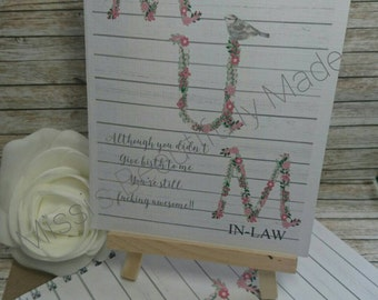Mum in law doodle pad and card
