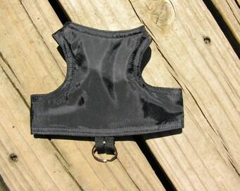 SafetyKatz Walking Jacket Black Wind Breaker ; Custom Made Reversible Cat Harness Vest Collar Kitten Kitty